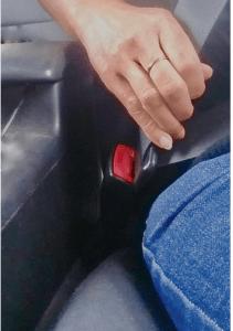 buckling up seat belt